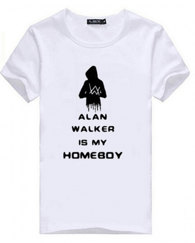 Casual DJ Alan Walker Fade T Shirts For Men Short Sleeve Tee For Summer XXXL
