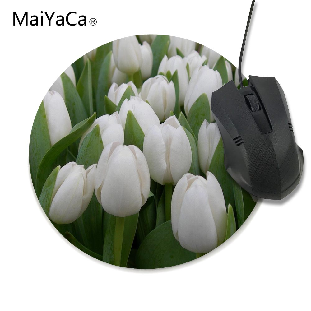 Beautiful Tulip Flowers Garden Full Hd 2016 Round Gaming Mouse Mats
