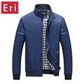Hombres de la chaqueta de 2017 Otoño Invierno Moda Solid Slim Fit Chaquetas Nueva Marca de Ropa Deportiva Chaquetas Rompevientos Negro 3XL 4XL 5XL X373