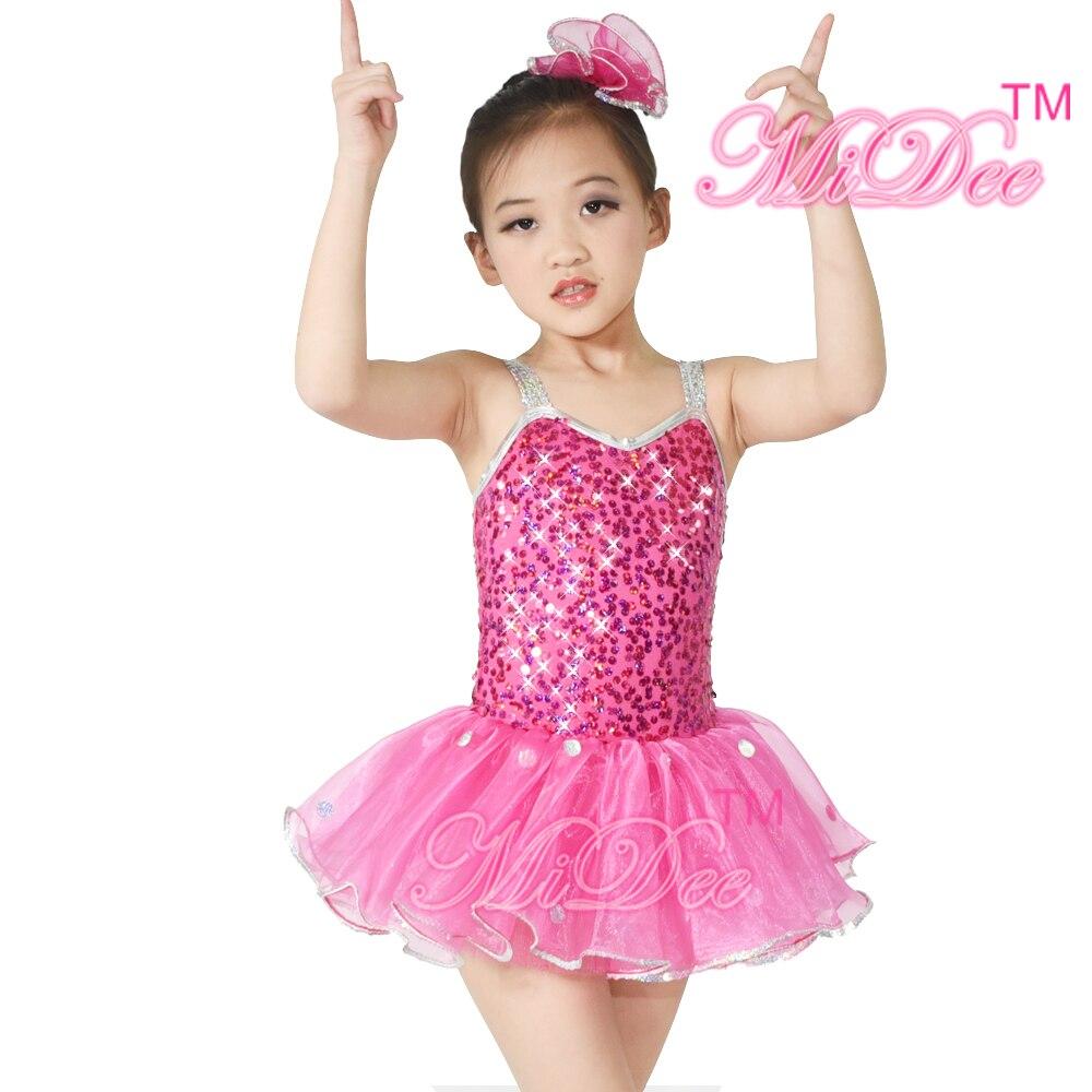 Borde De Plata de Lentejuelas Trajes de Baile de las niñas de Ballet ...