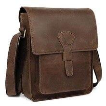Клининг мужская кожаная сумка креста тела старинные стиль сумка для iPad crazy-лошадь кожаная сумка 11124