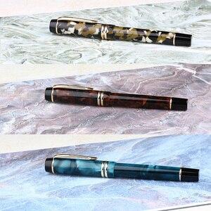 Image 2 - Moonman M600S cadeaux Double couleur écriture encre remplissage sous vide lisse bureau pratique dispositif stylo plume pour enfants Iridium Fine plume