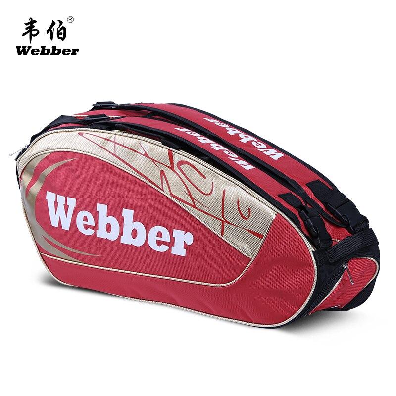 Профессиональный ракетки для бадминтона. сумка рюкзак 6 палочки ракеток сумка