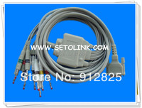 SCHILLER AT 1 AT 2 ECG CABLE 10 LEADS BANANA 4.0 END AHA STANDARD TPU MATERIAL