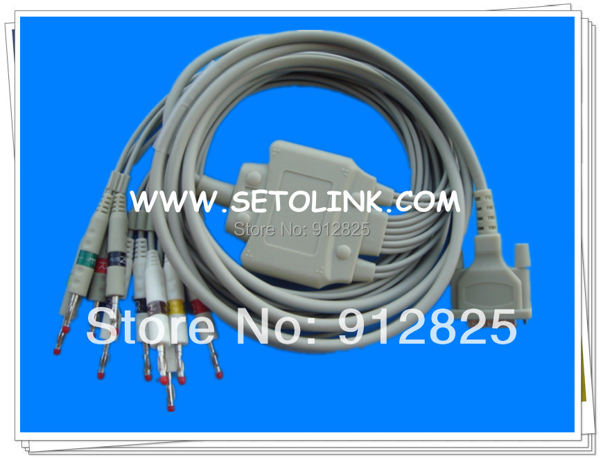 SCHILLER AT-1 AT-2 ECG CABLE 10 LEADS BANANA 4.0 END AHA STANDARD TPU MATERIAL купить