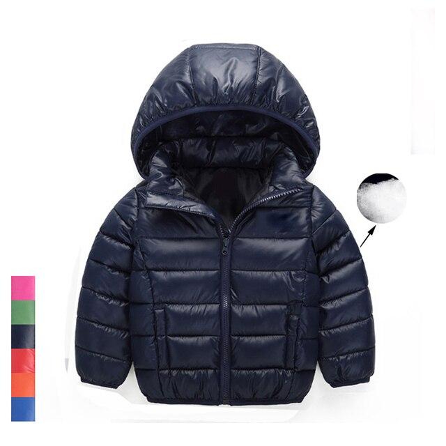 Марка 2017 Новый Зимний Теплое Пальто Детские Мальчики Девочки Верхняя Одежда и Пальто Мода Белая Утка Вниз Пальто Куртки для Мальчиков