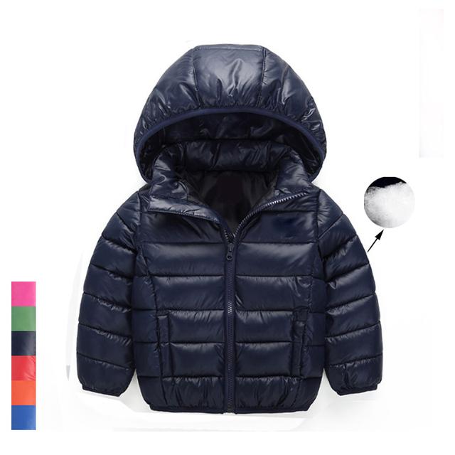 Marca 2017 Nuevo Invierno Cálido Abrigo Bebé Niñas Prendas de Abrigo y Abrigos de Moda de Pato Blanco Abajo Chaqueta Abrigo para Los Niños
