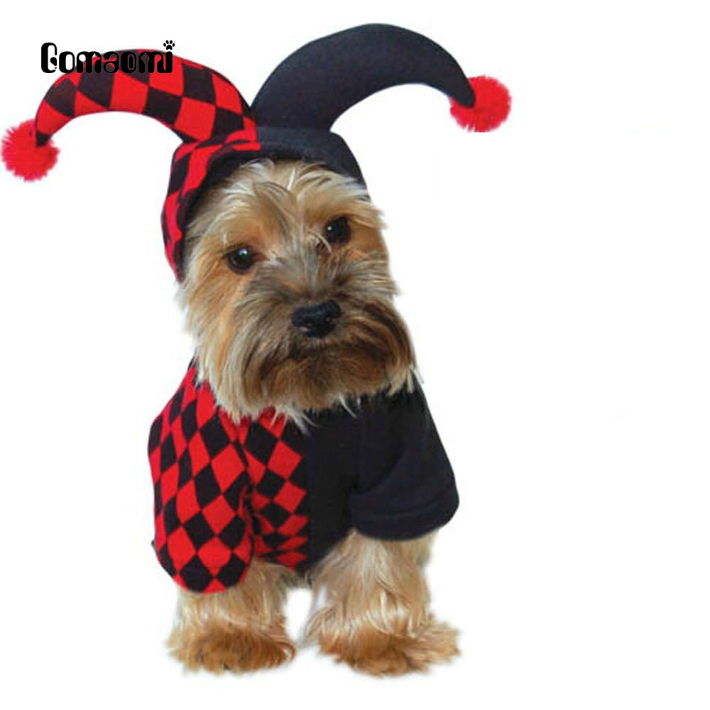 Dog Hooded Clown Halloween Costume