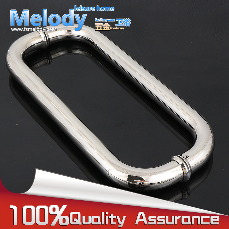H003 Frameless Bath room Shower Door Handle 304 stainless steel Polish Chrome hardware:C-C500mm
