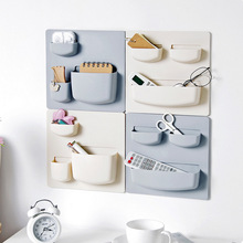 Creative Self Adhesive Wall Shelf Bathroom Storage Rack Free Punching Hanging kitchen Finishing