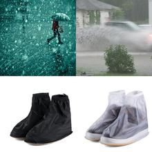 New Men Women Rain Waterproof Flat Ankle Boots Cover Thicker Non-slip Platform Rain Heels Shoes Covers
