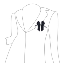 Match-Right Woman & Man Brooches Long Ribbon Big  Bowknot Shirt's Bow Tie Pins Collar Accessories Fashion Jewelry SP256
