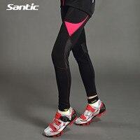 2016 Women Winter Fleece Cycling Pants Bicycle Jersey Pants Black Tights Cycling Trousers Cycling Jersey Santic