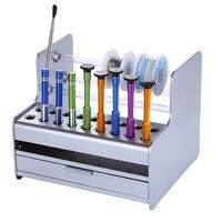 Caixa de armazenamento de plástico prática  componentes eletrônicos  chave de fenda  pinças  caixa de ferramentas de reparo  caixa