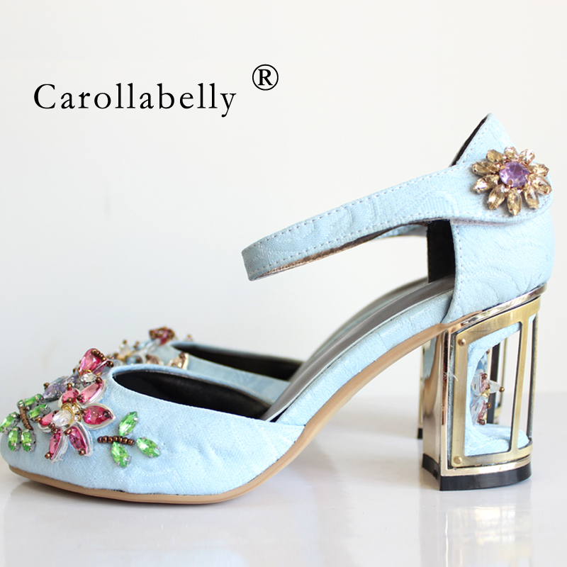 2018 new spring summer woman rhinestone high heels shoes wedding shoes bridal red purple lace platform women  party shoes