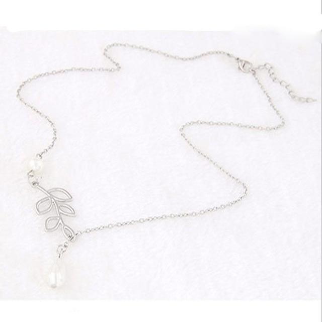 Delicate Bird & Leaf Shape Pendant Necklace 5