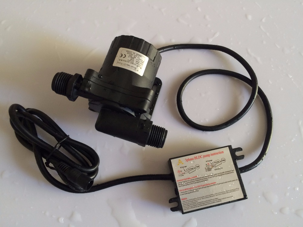 2pcs/ Lot High Pressure Pumps, 1560LPH 15M 50F-24150S, 5-24V DC Submersible Small Water Pump, Brushless DC Pump, For Hot Water 2016 hot sale 24v dc mini submersible water pump with high quality low price