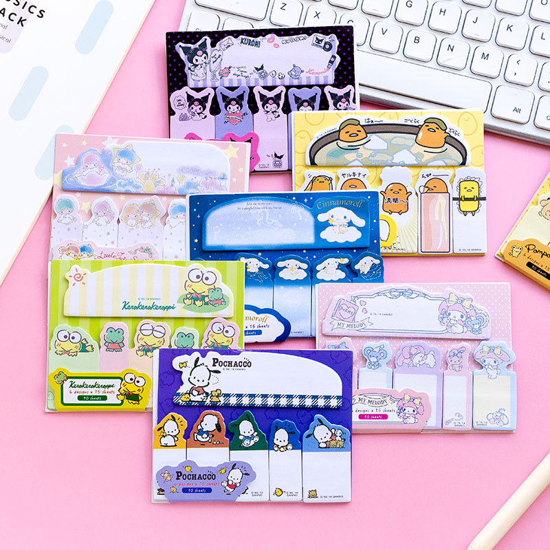 Cartoon Frog Melody Twin Star Memo Pad N Times Sticky Notes Escolar Papelaria School Supply Bookmark Label star shaped sticky notes