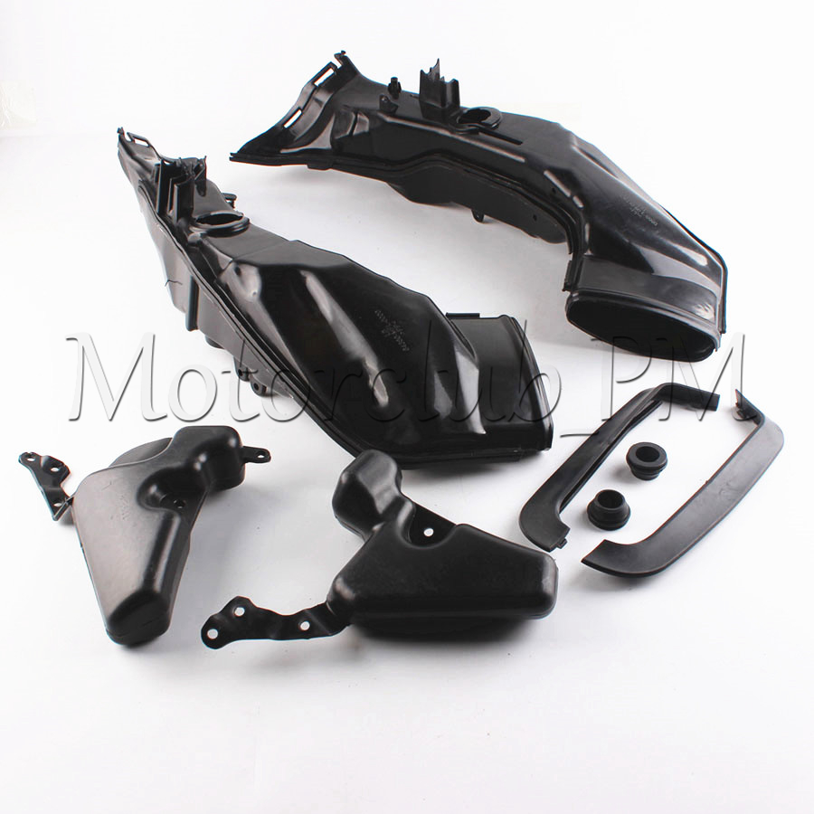 ABS Plastic Motorcycle Ram Air Intake Tube Duct For Honda CBR1000RR 2008-2011 2009 2010 Black High Quality arashi motorcycle radiator grille protective cover grill guard protector for 2008 2009 2010 2011 honda cbr1000rr cbr 1000 rr