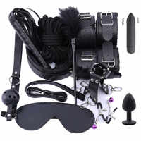 Sex Handcuffs bdsm bondage erotic toys for adults Nipple Clamps Gag Whip Bdsm Sex Toys Collar Mask Bondage Set Handcuffs for Sex