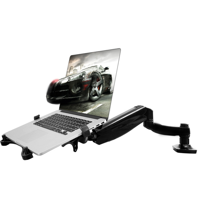 D5F Gas Spring Laptop Monut Stand Rotation Ergonomic Adjustable Height/Angle  Computer Desktop Monitor Arm
