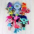 6pcs/lot High Quality Trolls Plush Toys Poppy Branch Stuffed Cartoon Dolls The Dreamworks Trolls Christmas Gifts 6 styles