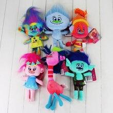 6pcs lot High Quality Trolls Plush font b Toys b font Poppy Branch Stuffed Cartoon Dolls