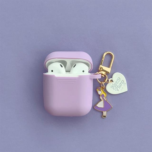 סופר חמוד בנות מפתח טבעת עבור אפל Airpods מקרה אלחוטי Bluetooth אוזניות מקרה סיליקון אוזניות מגן כיסוי אנטי אבוד