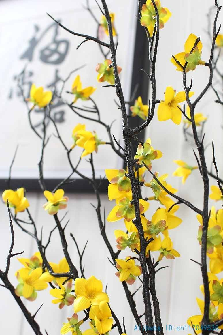 1 Pcs 90 Cm Beautiful Artificial Winter Jasmine Plastic Branch
