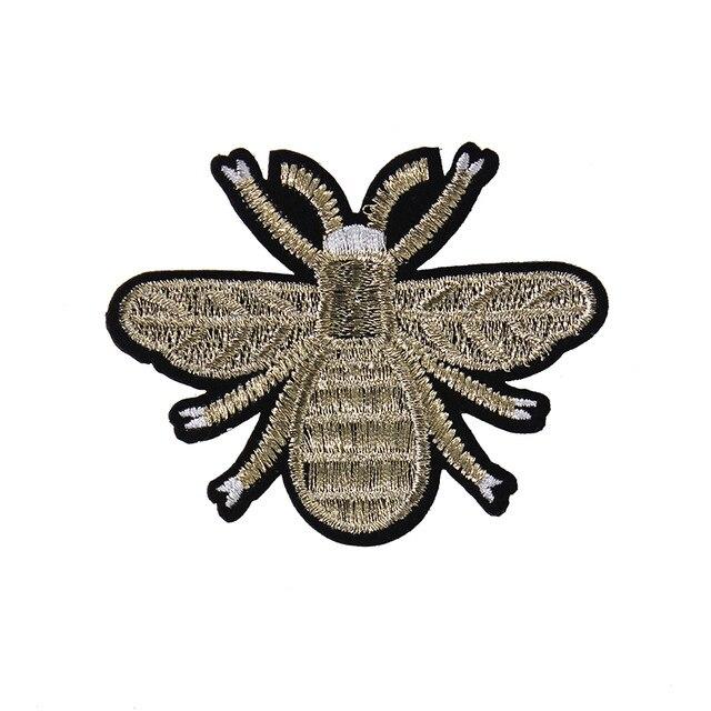 ᑎ‰5 pieza abeja Parches apliques moda Bordado coser en motif badge ...