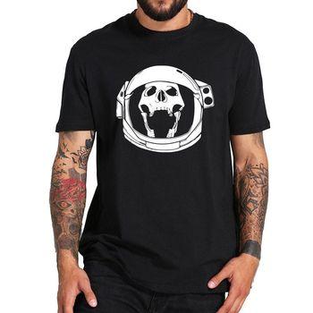 Astronaut Skull Tshirt Skeleton Pilot Cool Anime Camiseta Homme Cotton Cool Casual pride t shirt men Unisex New Fashion tshirt