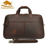 Мужские дорожные сумки из натуральной кожи, дорожная сумка для сна, путешествие на выходные, Большая вместительная женская сумка через плеч