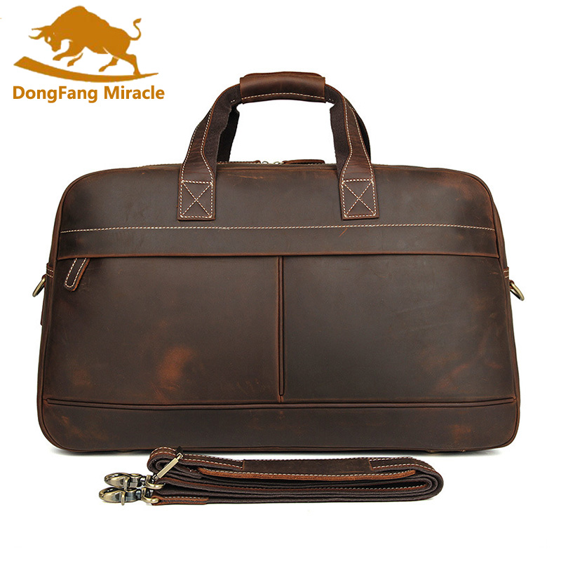 Genuine Leather Men Travel Bags Overnight Duffel Bag Weekend Travel Large  Tote Bags Crossbody Travel Bags f98090cf1332d