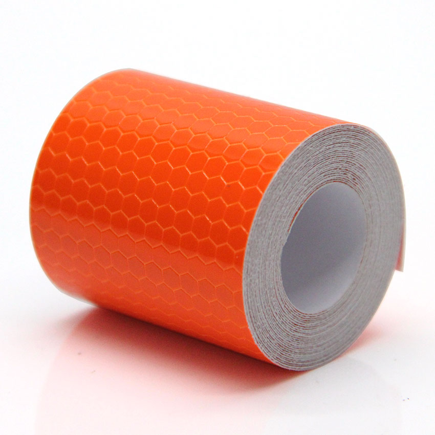 5cmx3m Orange Reflective Safety Warning Conspicuity Tape Adhesive Stickers Decal Decoration Warning Tapes Vinyl Film Safety Tape