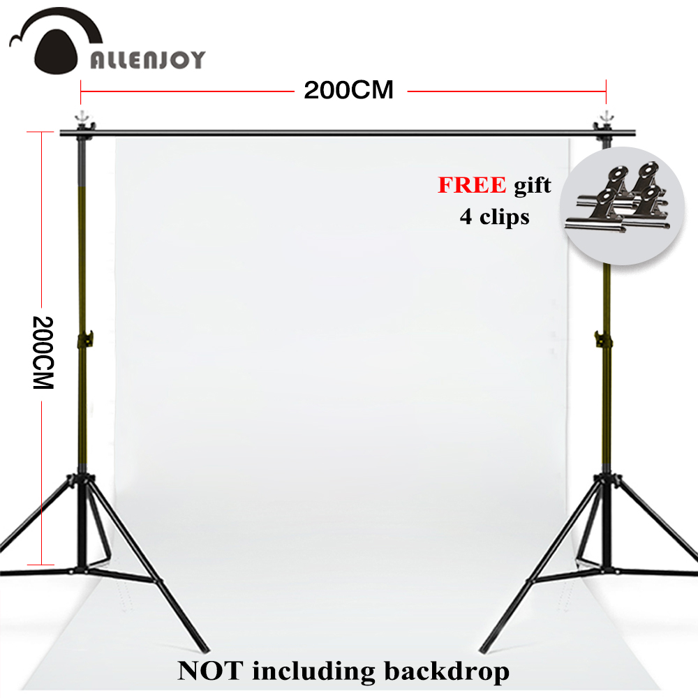 Allenjoy 2X2M/6.5*6.5ft photography backdrop stand kit background support system for photo video studio props + carry bagAllenjoy 2X2M/6.5*6.5ft photography backdrop stand kit background support system for photo video studio props + carry bag
