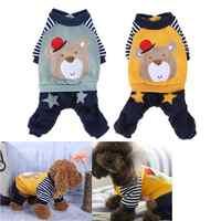 Ropa de invierno para perros para disfraz para perro pequeño estampado de animales de dibujos animados cachorro gatos abrigo para perro Animal suministros para mascotas XXS-L