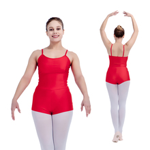 Shiny Lycra Ladies Girls Camisole Biketard Dance Unitard with Shorts Children and Adult Sizes 18 Colors Available