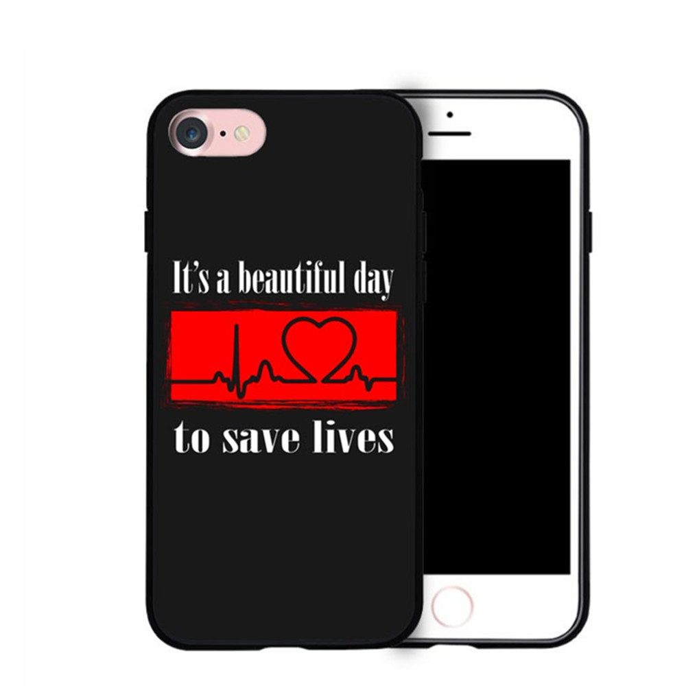 Cute Greys Anatomy Quotes Pattern Mobile Phone Cases For