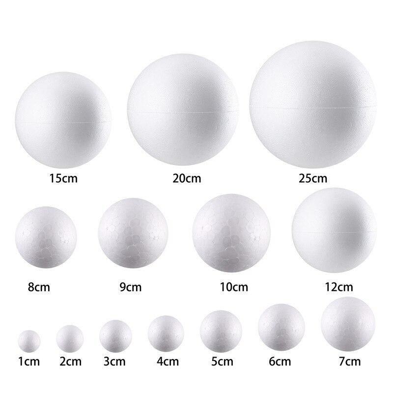 DIY круглые шарики из пенопласта Рождественский шар белый моделирование пенопласт авторские шары рождественские украшения Свадебная вечеринка 10 шт.