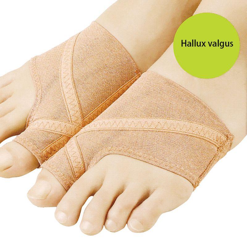 2Pcs/Pair Ultra Thin Big Toe Hallux Valgus Straighteners Bunion Feet Care Thumb Adjuster Correction Bandage Pain Relieve