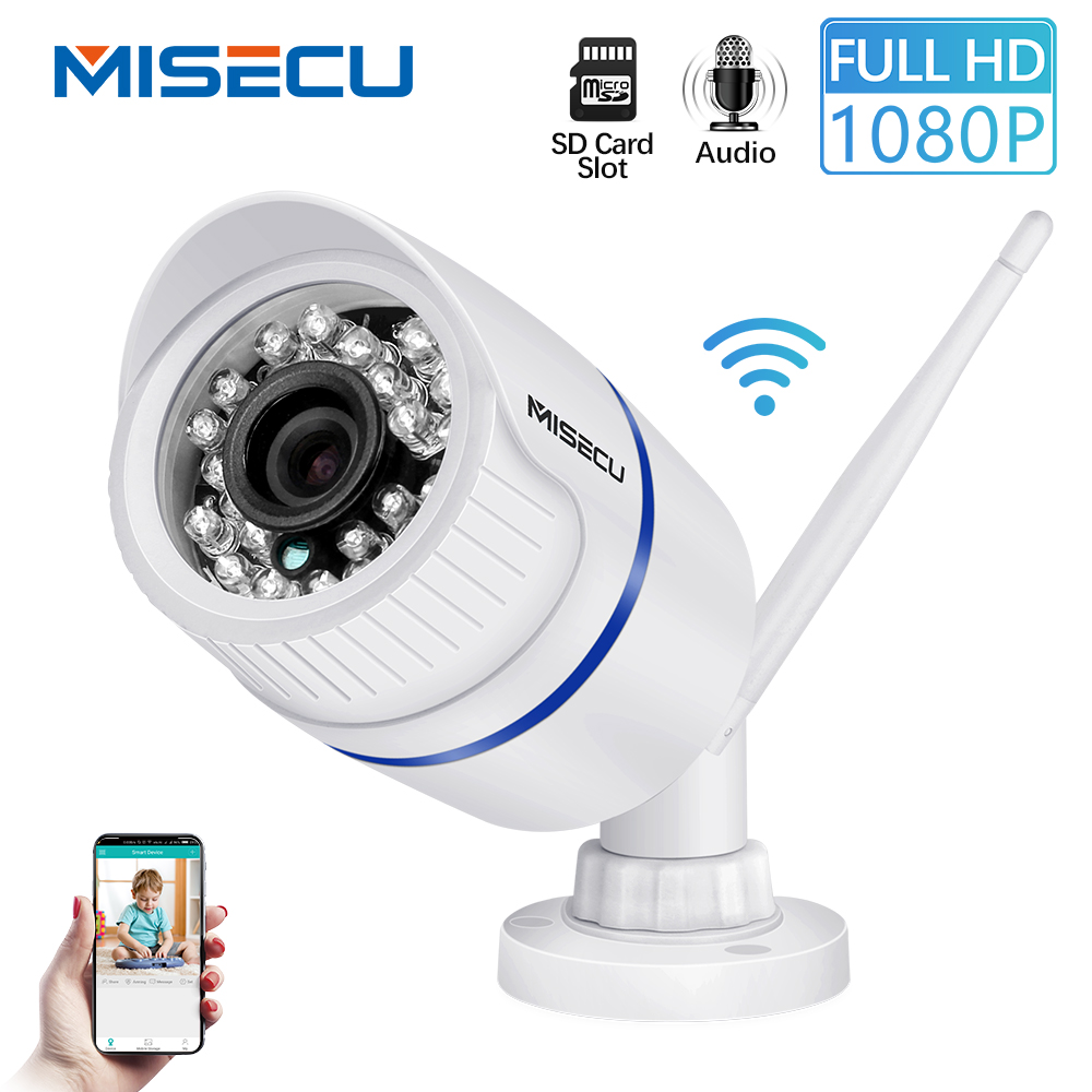 MISECU WiFi IP Camera Audio Record Sound 720P 960P 1080P HD Network with SD card slot and  Waterproof Night Vision Power SupplyMISECU WiFi IP Camera Audio Record Sound 720P 960P 1080P HD Network with SD card slot and  Waterproof Night Vision Power Supply