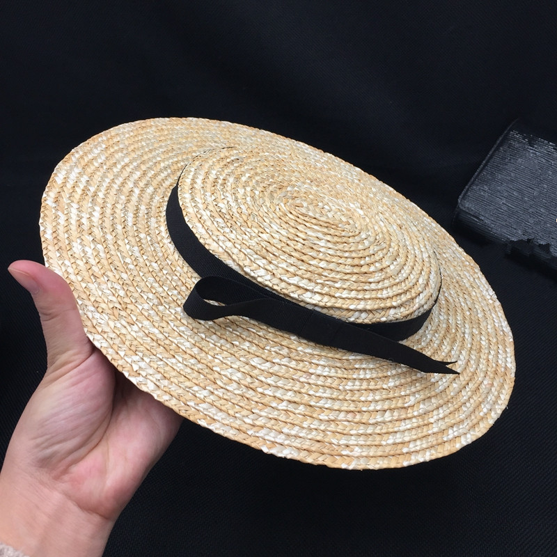 Elegant And Fashionable Straw Hat Children French Aristocrat Bowknot Straw Hats Stage