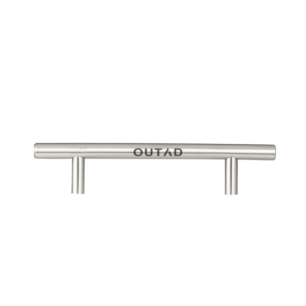 OUTAD 20pcs/set Modern Design Stainless Steel T-type Hollow Round Tube Cabinet Handle ручка гравер bradex td 0214