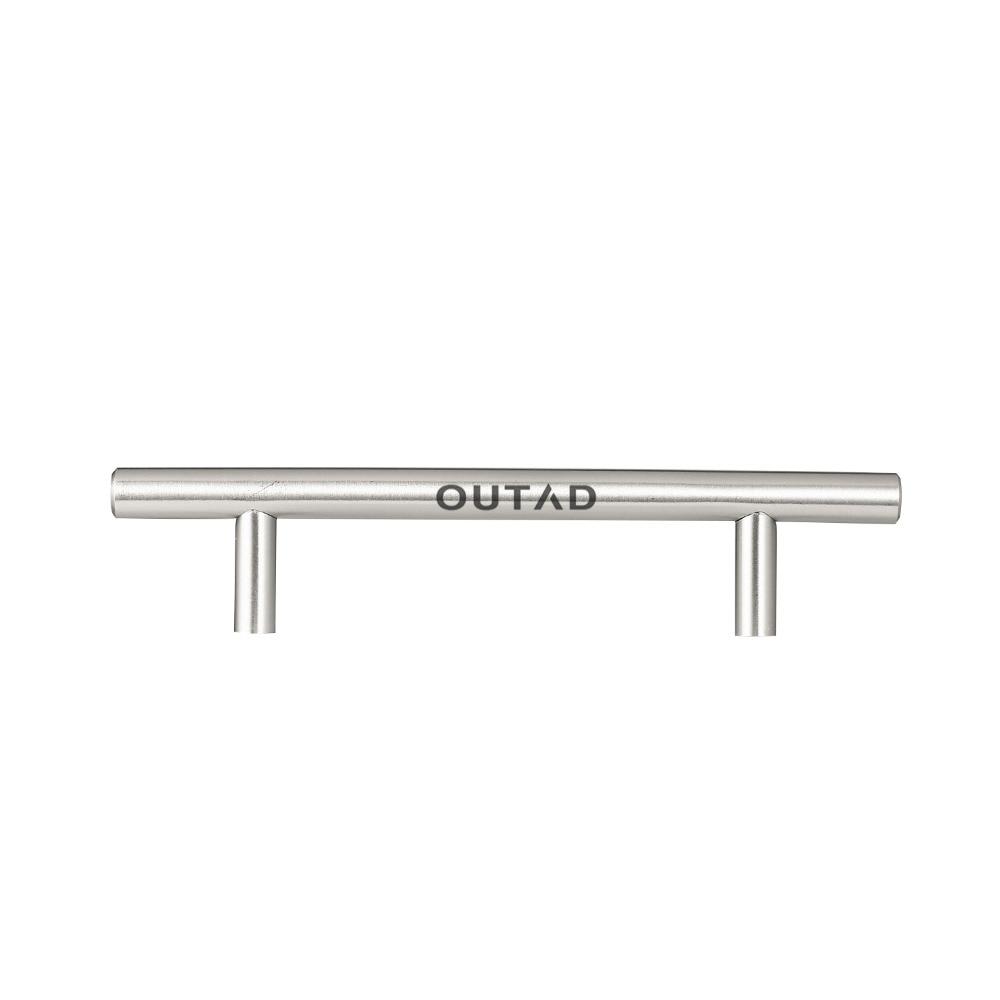 купить OUTAD 20pcs/set Modern Design Stainless Steel T-type Hollow Round Tube Cabinet Handle по цене 5983.78 рублей