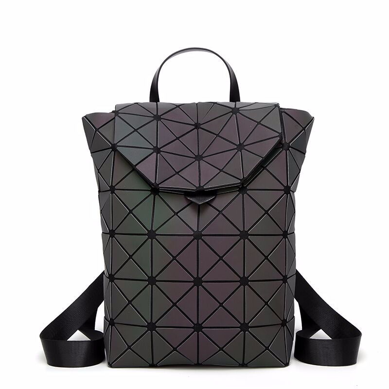 2018 Newest Desgin Bao Bag Luminous Backpack For Teenage Girls School Bags Fashion Laser Lattice Geometric Women backpacks women laser backpack geometric shoulder bag student s school bag luminous backpack laser sequins folding bags daily backpacks