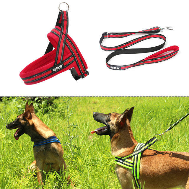 Adjustable Pet Dog Harness Soft Breathable Walk Harness Vest Nylon Harness For Small Medium Large Pets Products