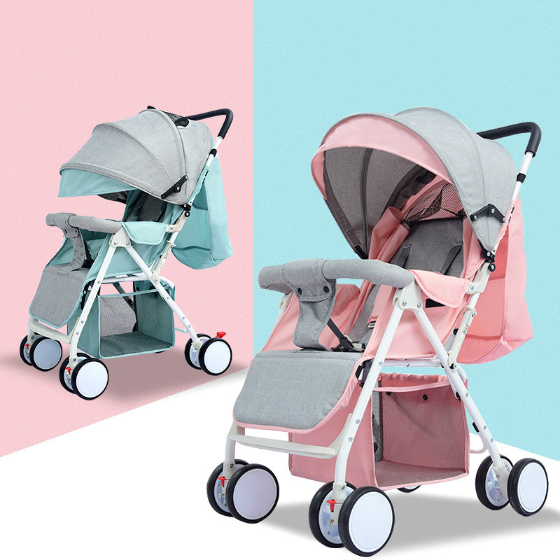 купить 4.2KG Lightweight Strollers Folding Portable Traveling Pram Compact Baby Stroller for Newborn Summer Winter Trolley по цене 6854.15 рублей