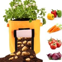 15 галлонов выращивание картофеля Плантатор из полиэтиленовой ткани мешок-контейнер для посадки растений овощей Садоводство ярдинерия утолщаются горшок посадки растут мешок
