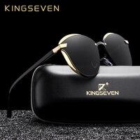KINGSEVEN «кошачий глаз» Для женщин поляризационные Модные женские Солнцезащитные очки женские винтажные солнцезащитные очки Óculos де золь UV400