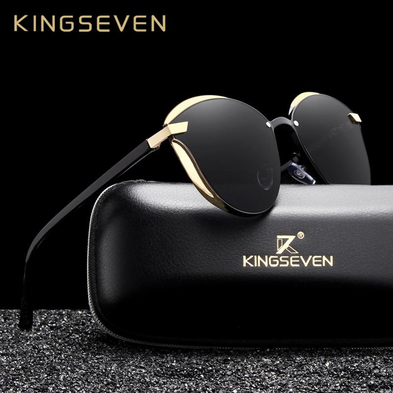 f70571b7701b KINGSEVEN Cat Eye Sunglasses Women Polarized Fashion Ladies Sun Glasses  Female Vintage Shades Oculos de sol Feminino UV400